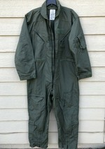 GENUINE US AIR FORCE NOMEX FIRE RESISTANT FLIGHT SUIT GREEN CWU-27/P - 46R - $24.75