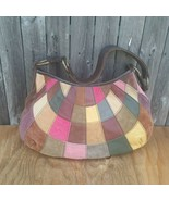 Lucky Brand Sunshine Patchwork Suede Leather Bag - $50.00