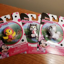 Minnie animal figurines, set of 3, pet dog cat bird, Cuckoo Figaro Snowpuff