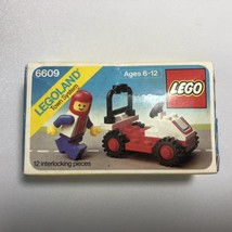 Vintage LEGO 6609 Race Car and Driver Town System Factory Sealed Box Leg... - $37.95