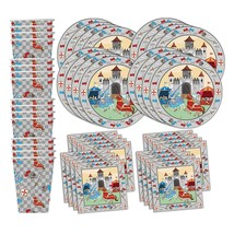 Medieval Knight Castle Birthday Party Supplies Set Plates Napkins Cups T... - £20.67 GBP