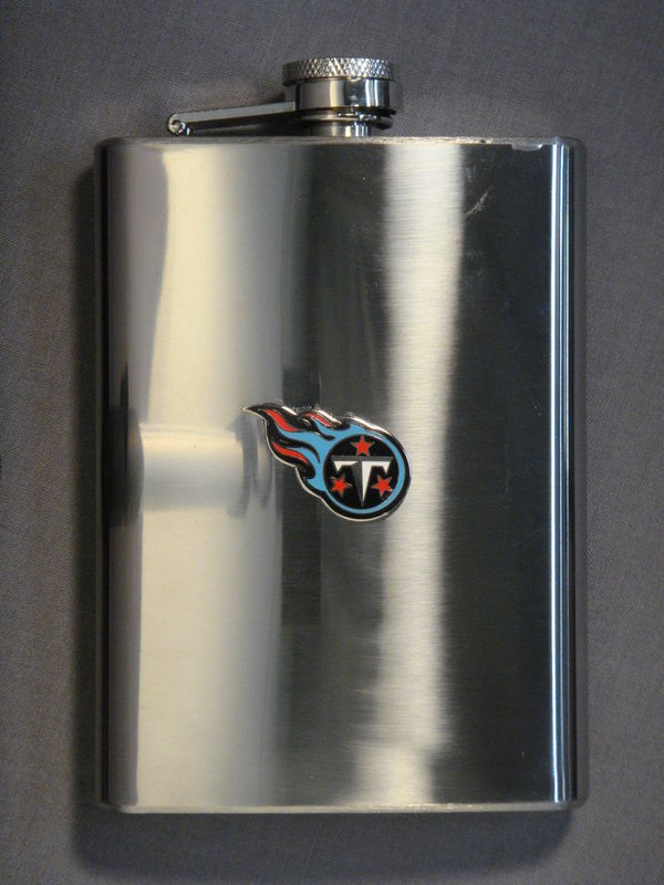 TENNESSEE TITANS 8oz STAINLESS STEEL FLASK NEW NFL