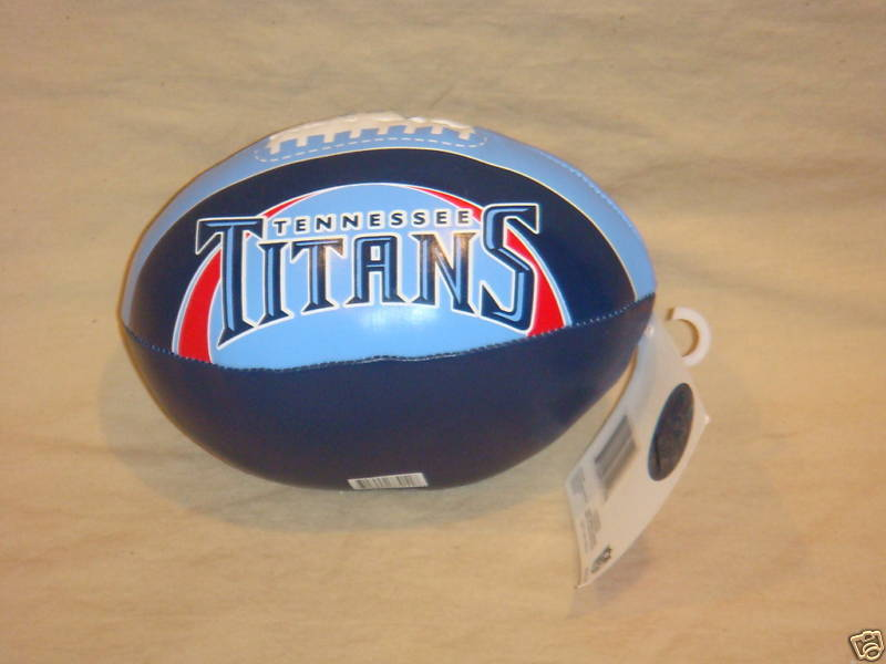 "TENNESSEE TITANS FOOTBALL 6"" SOFTEE FOOTBALL NFL NEW"