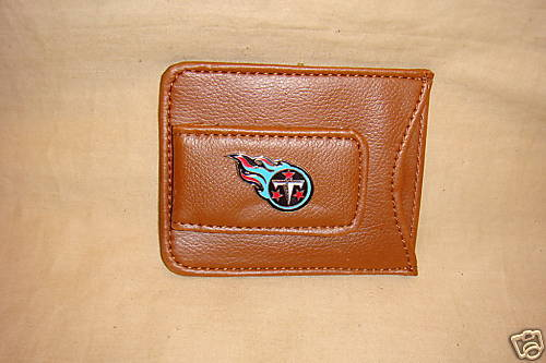 TENNESSEE TITANS LEATHER MONEY CLIP AND CARD HOLDER NEW