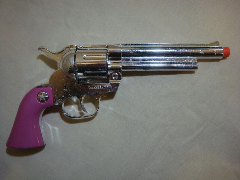 TEXAS ROSE TOY CAP GUN / PISTOL WILD WEST REPLICA PROP