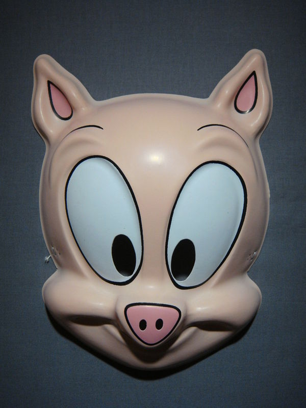 TINY TOONS ADVENTURES HAMPTON J. PIG PVC MASK NEW