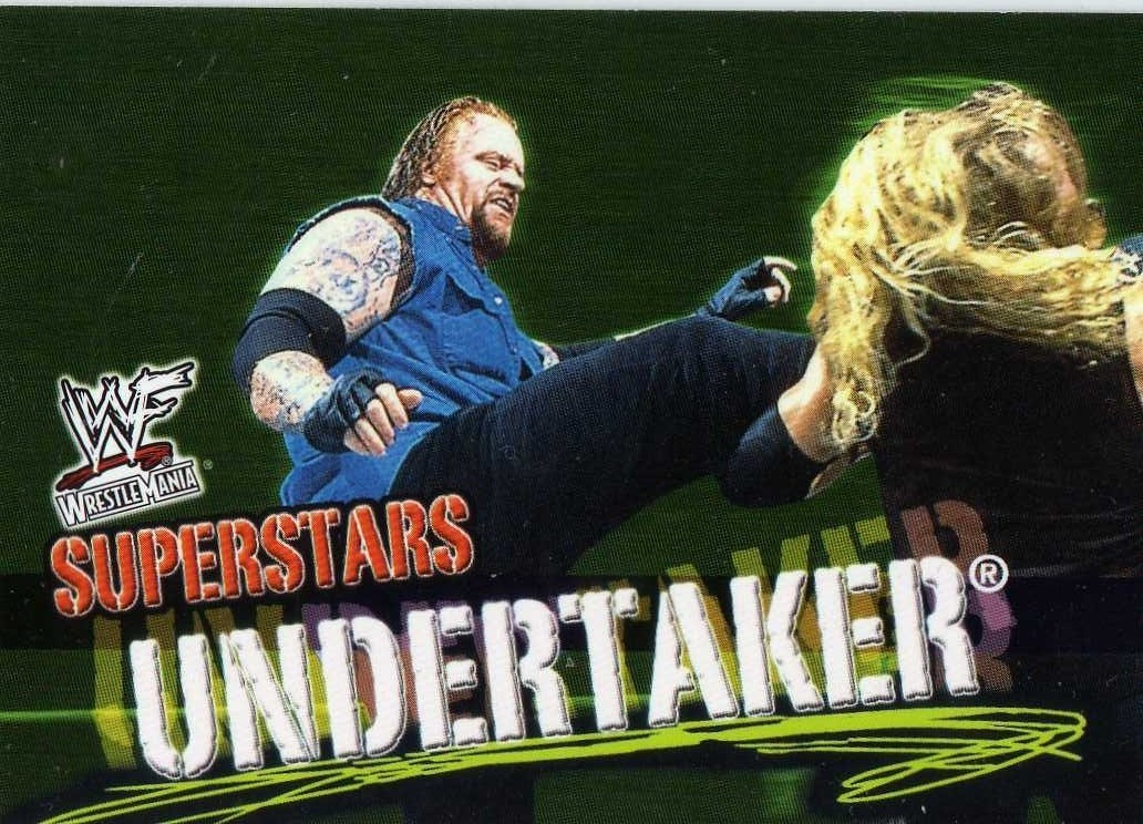 2001 Fleer WWF Wrestlemania Superstars Undertaker WWE TNA
