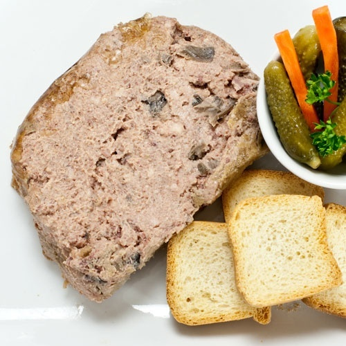 Pate Forestier - Pork with Garlic and Mushrooms - Party Size