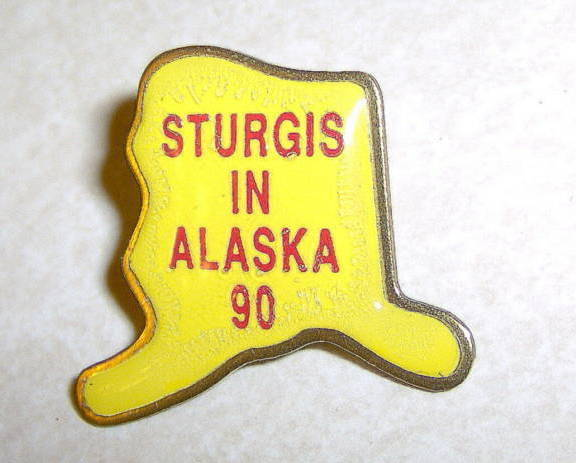 Collectible Sturgis Rally in Alaska State 1990 90 Pin