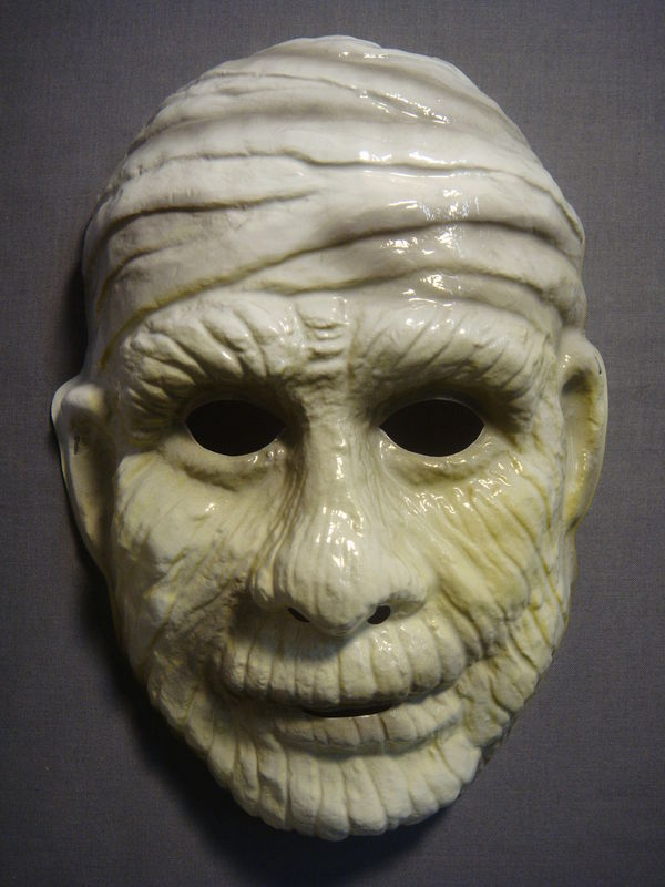 UNIVERSAL CLASSIC MONSTERS THE MUMMY HALLOWEEN MASK PVC NEW