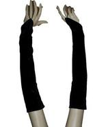 One Pair Black Velvet Large Glooves Sleeves For Dresses By Wevez - $7.64