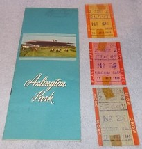 Arlington Park Jockey Club Official Program 1949 and Three Race Stubs Illinois - $44.95