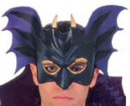 VAMPIRE MASK PVC ADULT DELUXE MASK W/ SELF LOCKING TOG - $7.95