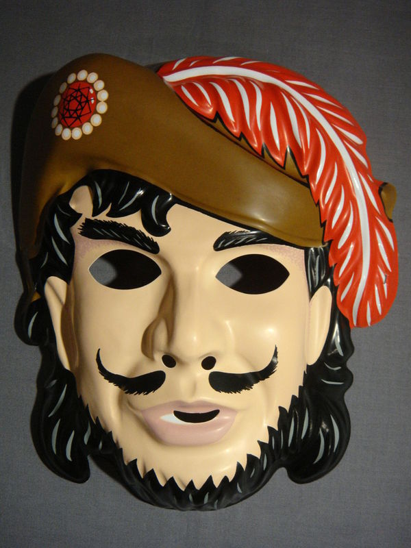 VINTAGE STYLE CAPTAIN HOOK PIRATE HALLOWEEN MASK PVC