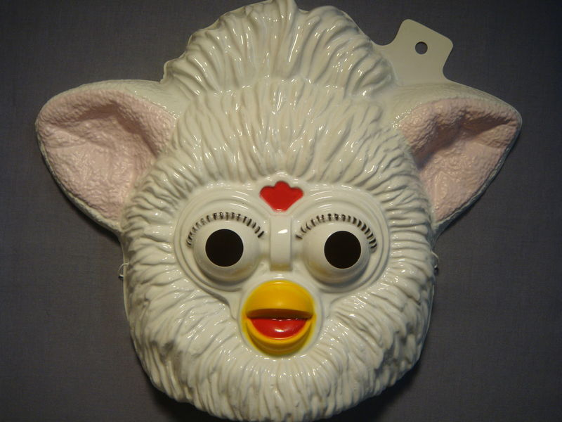 WHITE FURBY HALLOWEEN MASK PVC NEW