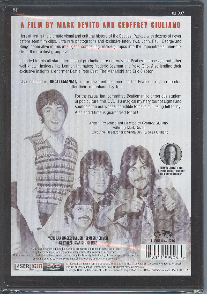 Beatles Dvd Paul McCartney John Lennon George Harrison Ringo Starr Sealed