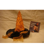 WITCH HAT HAIR ASSESSORY W/ COMB HALLOWEEN COSTUME AAA - $5.99