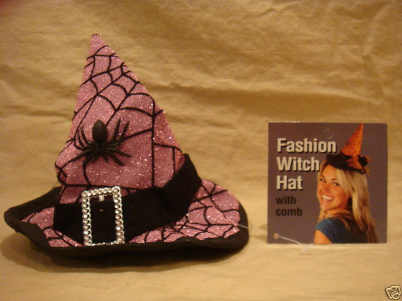 WITCH HAT HAIR ASSESSORY W/ COMB HALLOWEEN COSTUME PART