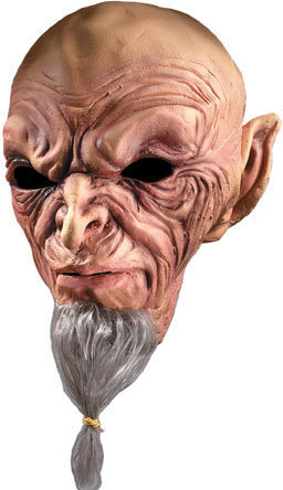 WIZARDLY WONDER WITH HAIR HALLOWEEN ADULT LATEX MASK