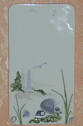 Wildflowers by Cricket Ceramic Tile Plaque Sea Side