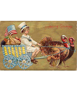 Thanksgiving Greetings Vintage 1909 Post Card - $6.00