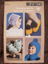 Vintage Patons Knitting Crocheting Patterns Hats Mitts Bootees etc TOTS ... - $5.99