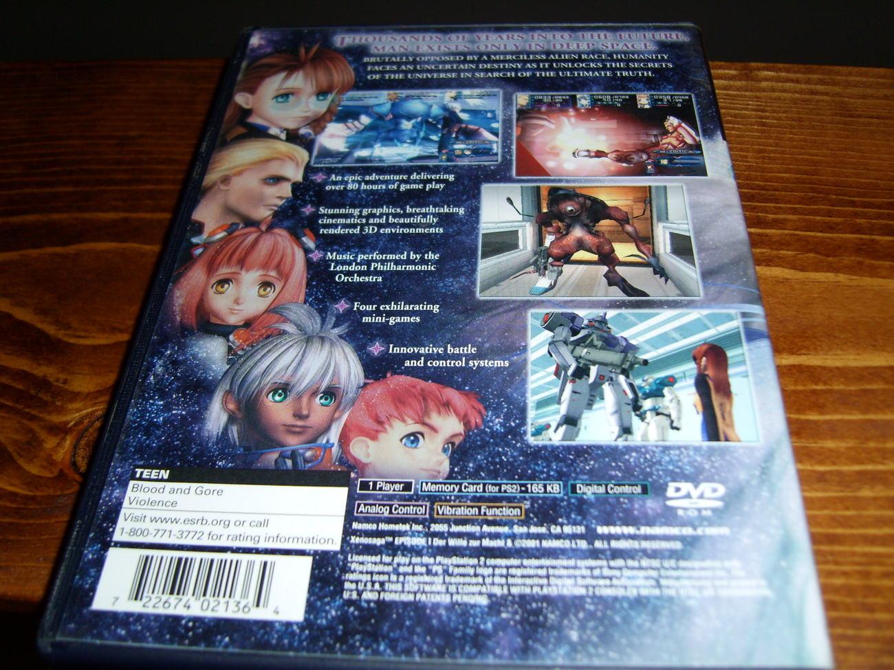 Xenosaga Episode 1 Playstation 2 game PS2