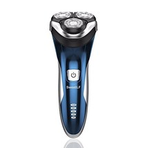 SweetLF 3D Rechargeable 100% Waterproof IPX7 Electric Shaver Wet & Dry Rotary Sh