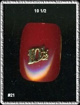24K gp Nail CHARM Top Nail Art Gold   Number  10 1/2 - $4.68