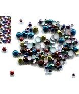 288 Rhinestuds Faceted Metal MIXED COLOR 2mm HotFix 2 gross - $6.32