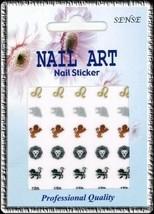 30  ZODIAC Sign LEO Nail Art DECAL Stickers - $3.49