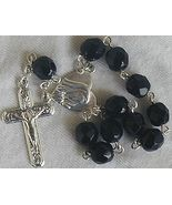 Mini black rosary - $15.00