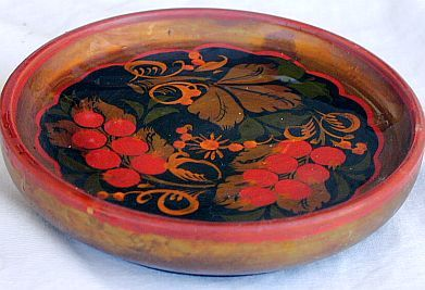 Russian wood bowl  Khokhloma