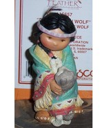 Friends of the Feather Dances with Wolf Indian Figurine NEW - $25.00