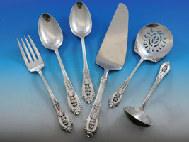 Rose Point by Wallace Sterling Silver Essential Serving Set Large Hostess 6-pc - $379.00
