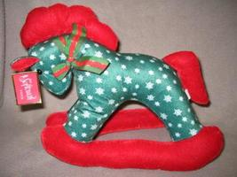 Softouch Toys Stuffed Christmas Holiday Rocking Horse  - $5.00