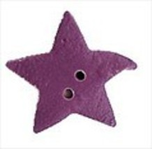 """Large Lilac Star 3328L handmade clay button .5"""" JABC Just Another Button Co - $1.40"""