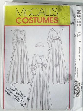 5155 Misses Renaissance Medieval Costume Size 16-22 NEW