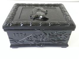 Gillinder Glass  George Washington Button Box, 1976 Commemor - $35.00