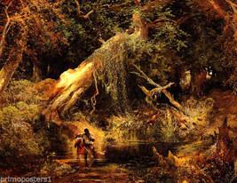 Slaves Hunt Dismal Swamp American Painting By Thomas Moran Repro - $10.96+