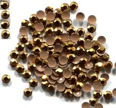 720 RHINESTUDS Faceted Metal  5mm  GOLD  Hot Fix 5 gross - $11.69