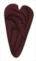 """Medium Plum Velvet Heart 3337m handmade button .5"""" JABC Just Another But... - $1.40"""