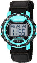 Armitron Sport Men's 40/8291TEL Teal Accented Digital Chronograph Dial N... - $52.01