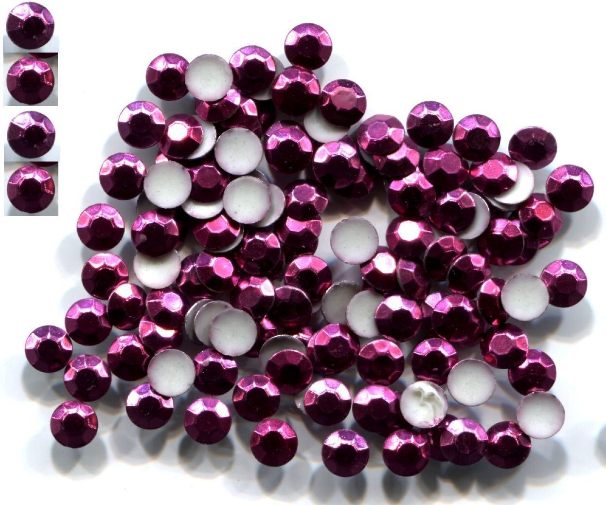 720 Rhinestuds Faceted Metal CORAL ROSE 4mm Hot Fix 5 gross
