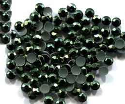 720 Rhinestuds Faceted Metal DK GREEN  4mm Hot Fix 5 gross - $9.99