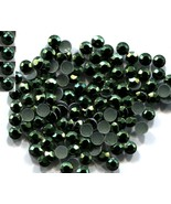 720 Rhinestuds Faceted Metal DK GREEN  4mm Hot Fix 5 gross - $9.99