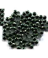 720 Rhinestuds Faceted Metal Dk Green 2mm Hot Fix 5 gross - $6.55