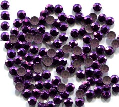 720 Rhinestuds Faceted Metal  PURPLE 2mm Hot Fix 5 gross - $6.55