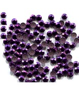 720 Rhinestuds Faceted Metal  PURPLE 4mm Hot Fix  5 gross - $9.99