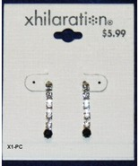 "xhilaration 1"" Rhinestone Dangle Earrings NWT - $6.99"